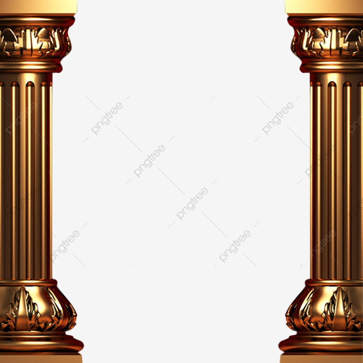 Golden Pillar Png, Golden, Pillar, Pillars PNG Transparent.