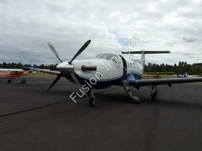 Stock Photography of Pilatus PC12 Aircraft.