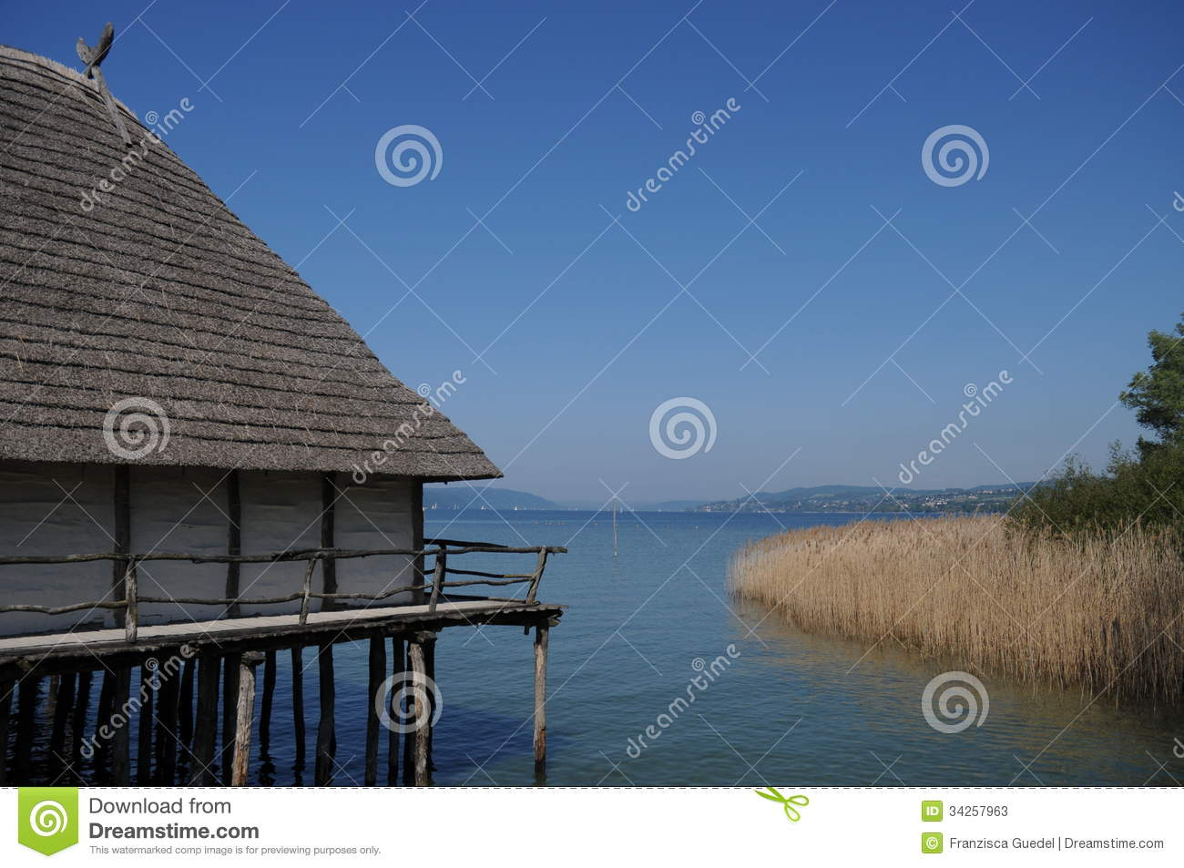 Bronze Age Dwelling Royalty Free Stock Photography.