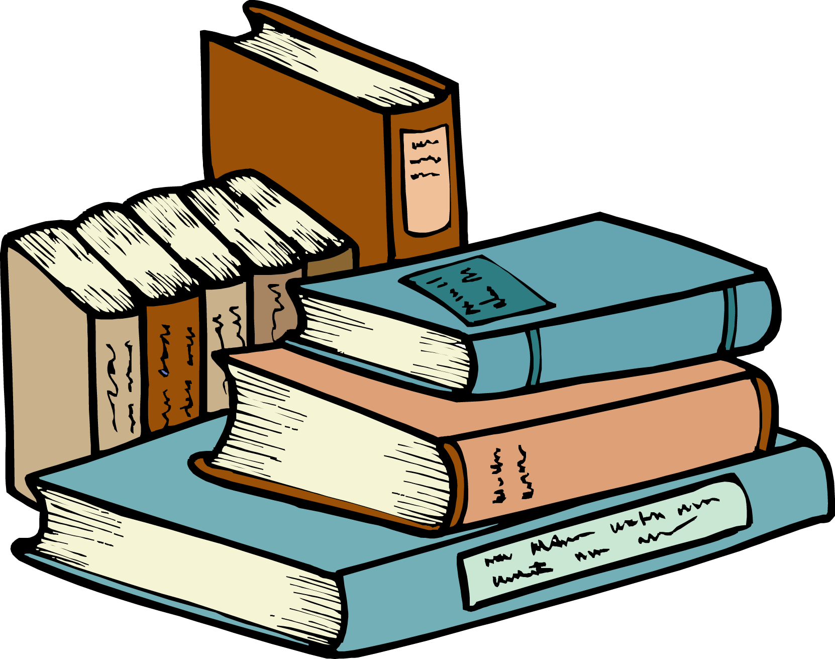 Best Stack Of Books Clipart #13591.