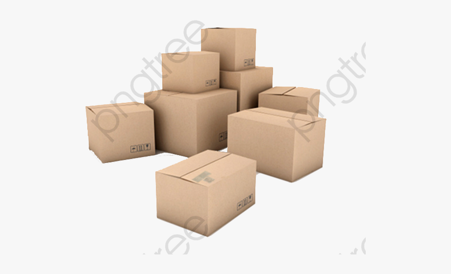 Pile Of Cardboard Boxes Stacked Boxes Clipart.