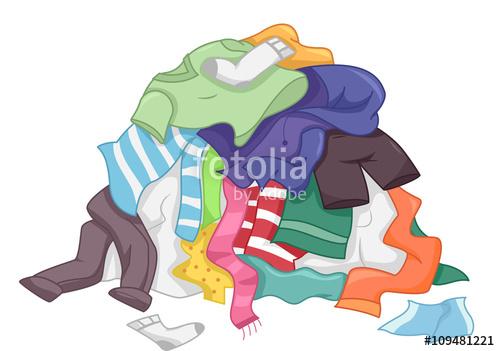 Laundry Pile Clothes\