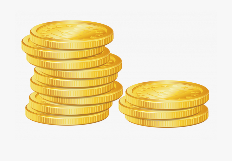 Unique Stack Of Gold Coins Clip Art Cdr.