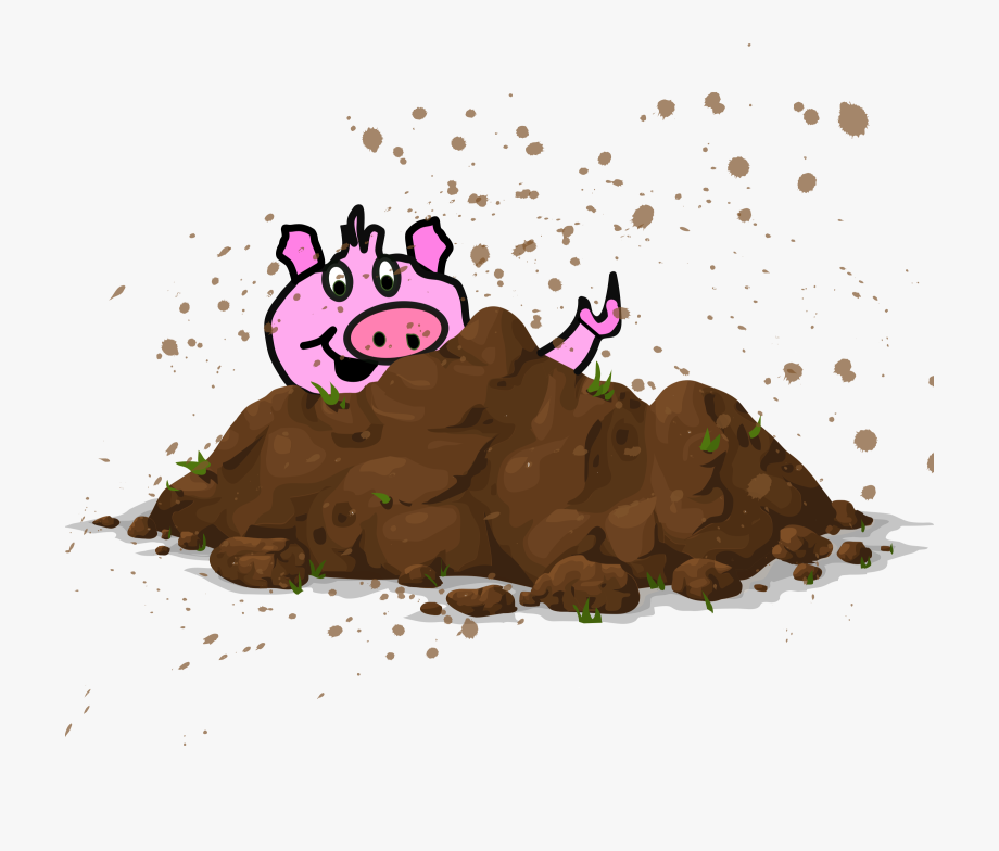 Clipart Black And White Download Mud Pile Soil Free.