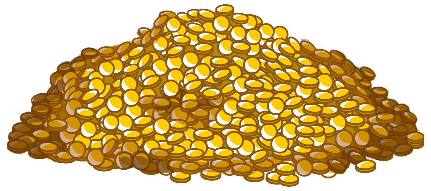 Pile of gold coins clipart images gallery for free download.