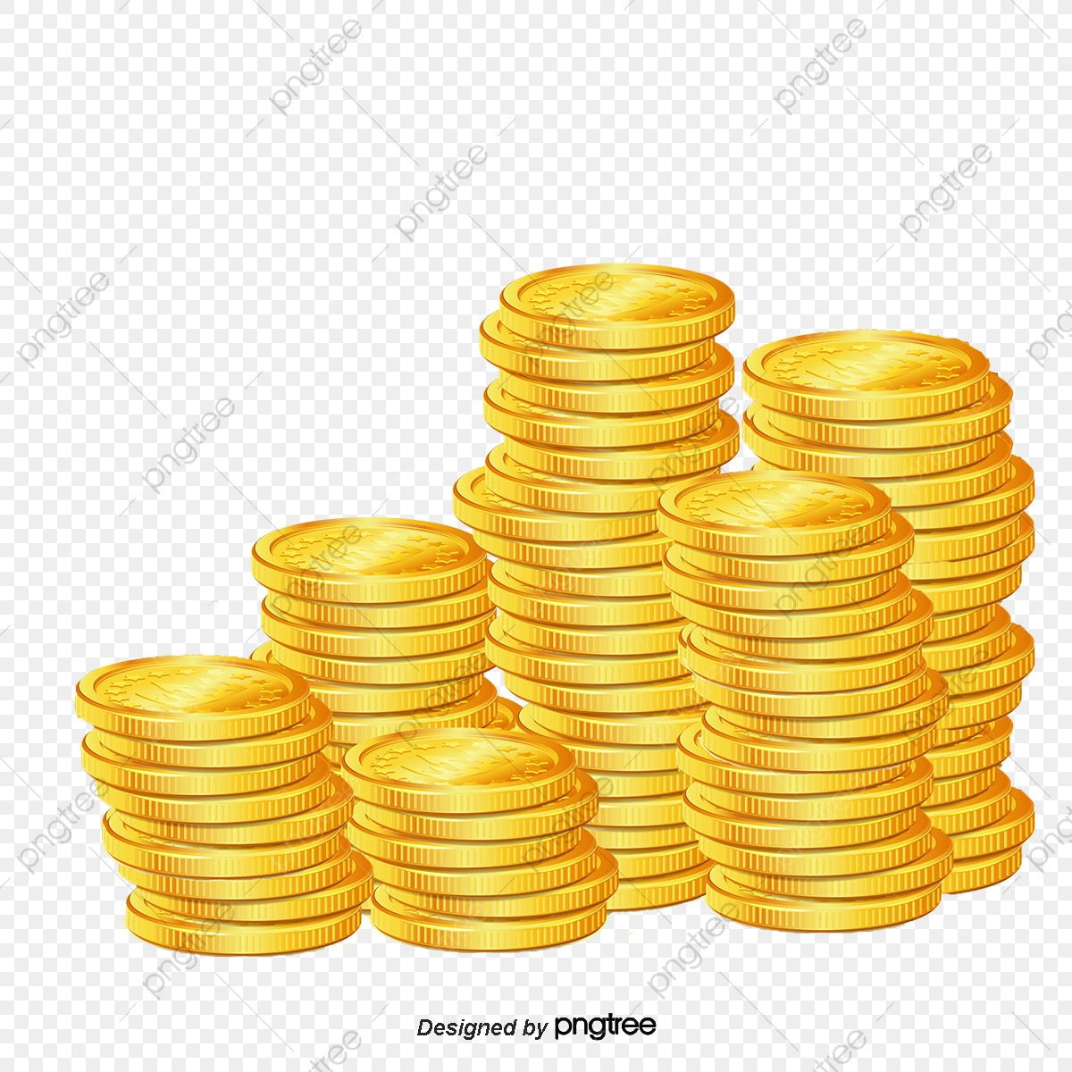 Pile Of Gold Coins, Gold PNG Transparent Clipart Image and.