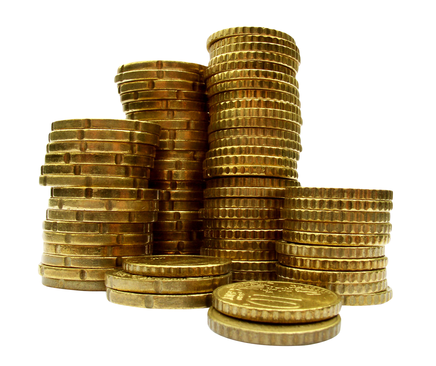 Coins Free PNG Images, Pile Of Gold Coins, Coins Money.