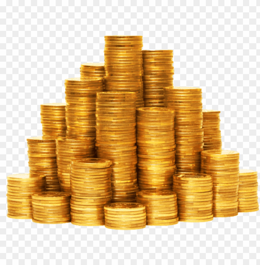 Pile Of Gold Coins Png PNG Image With Tr #586428.