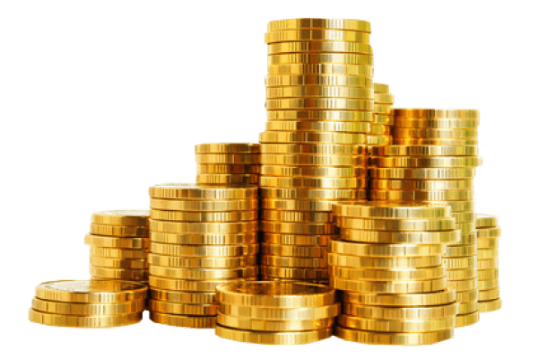 Gold Coins Stack transparent PNG.