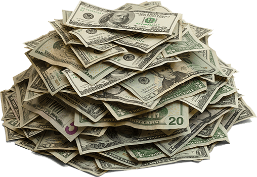 Pile Of Cash Money transparent PNG.