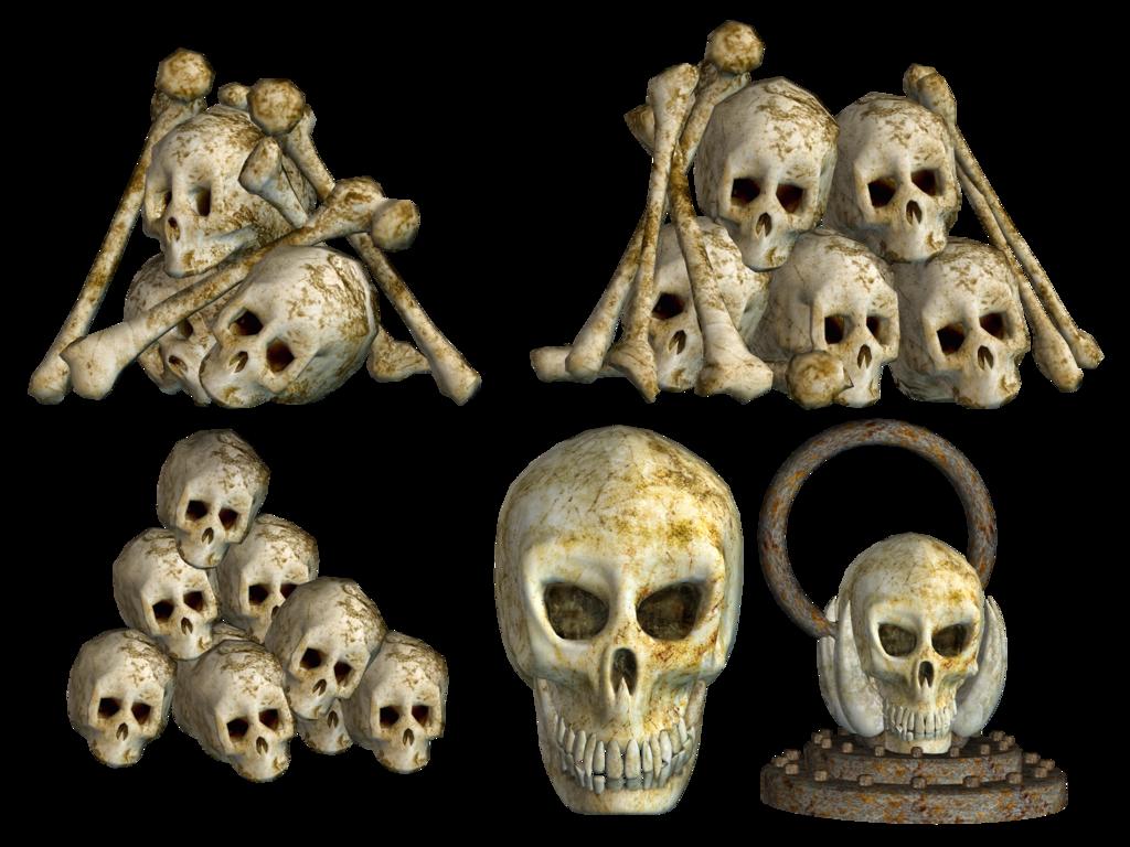 Download Pile of Skulls PNG Pic.