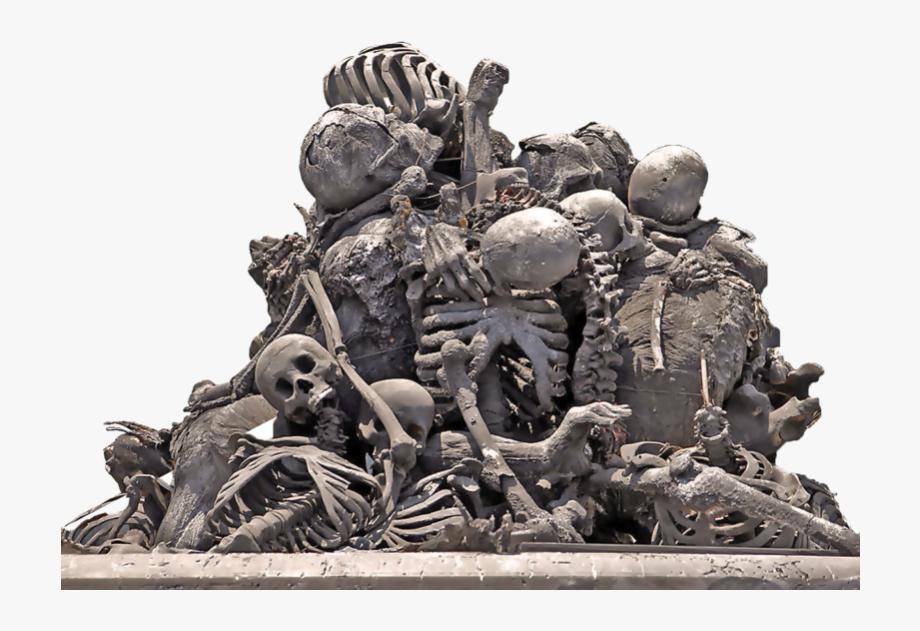 Pile Of Skulls Transparent Background.