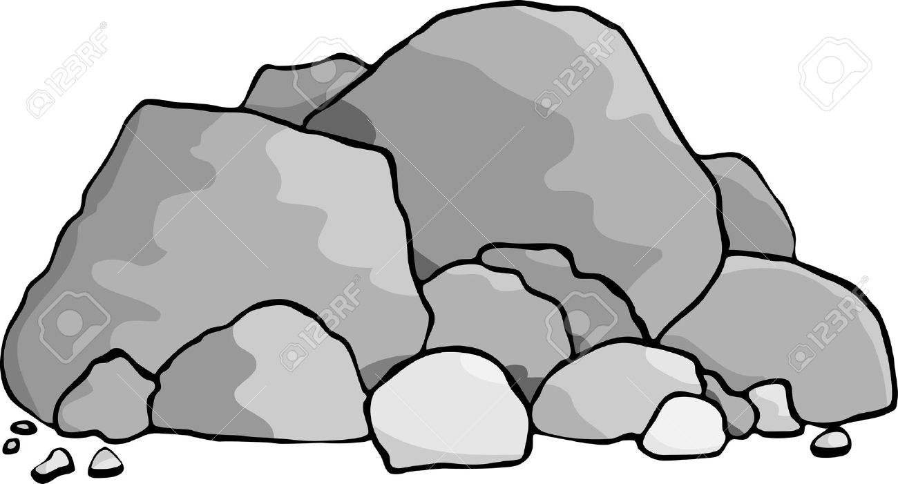 A Pile Of Boulders And Rocks. Royalty Free Cliparts, Vectors, And.