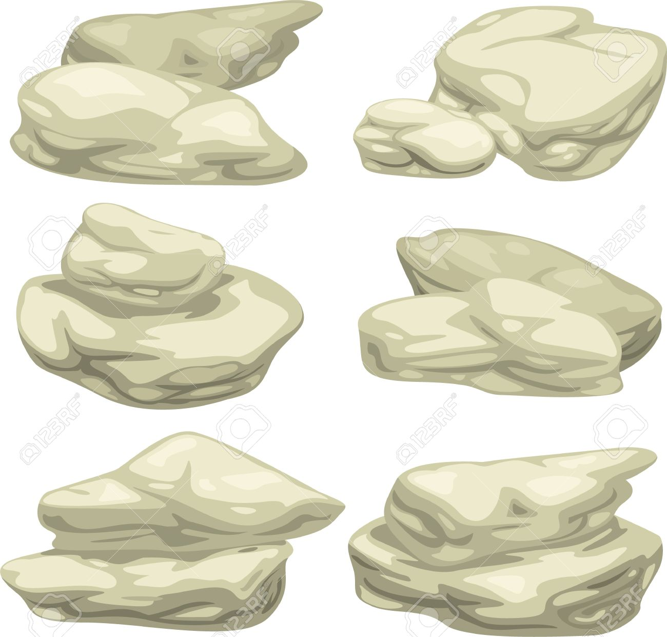Illustration Stone Object Set Royalty Free Cliparts, Vectors, And.