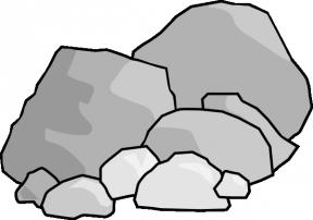Cartoon Stones Clipart.