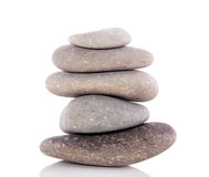 Pile Of Gray Cube Granite Stones Stock Photo.