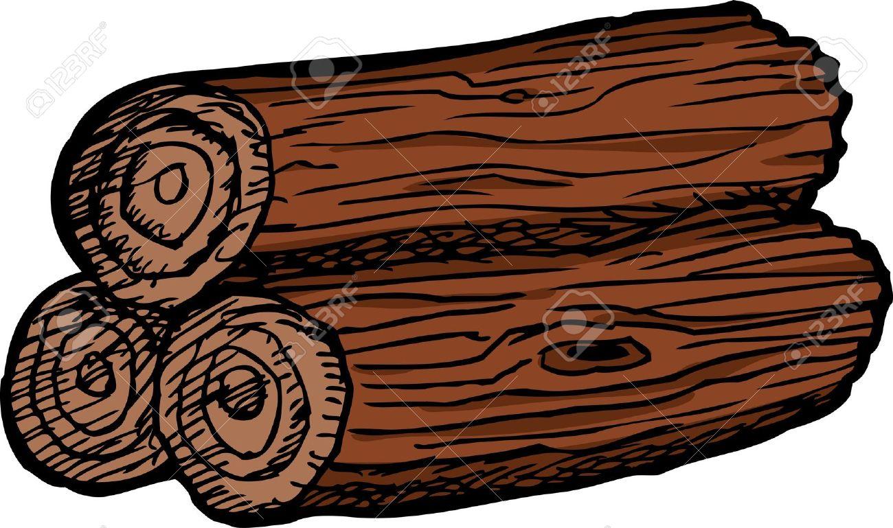 Clipart wooden logs.
