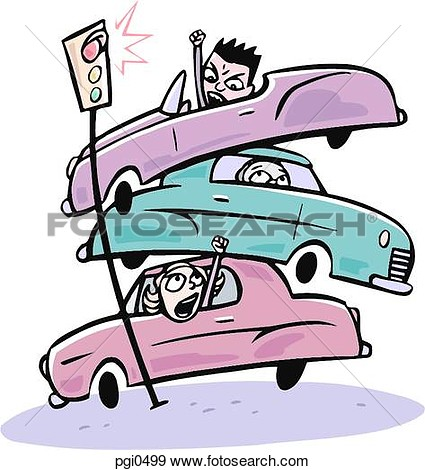 Car Pile Up Clipart.