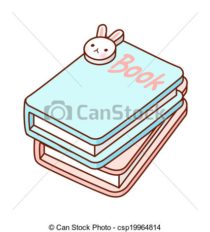 Clipart of The books are piled up csp19964814.