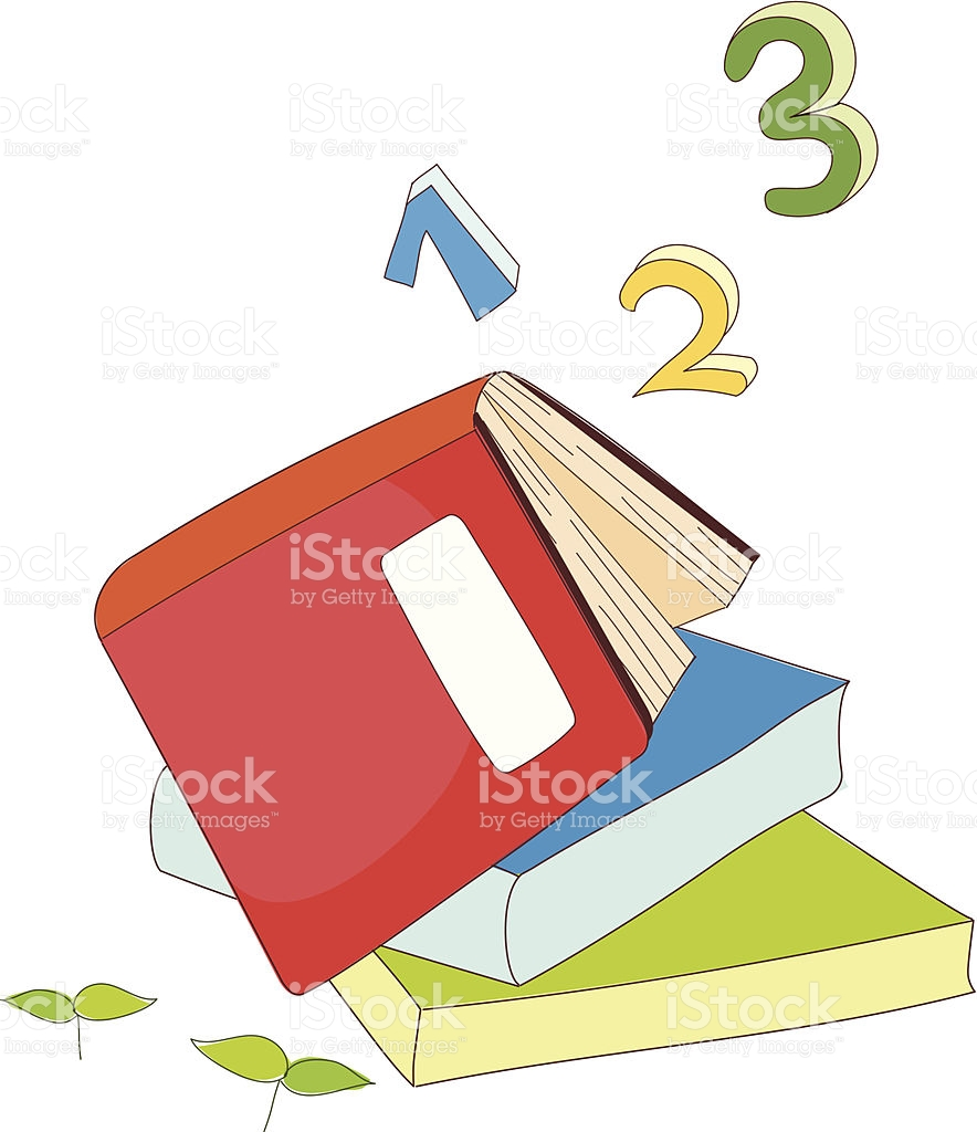 The Books Are Piled Up stock vector art 453002895.