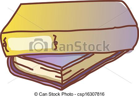 Vector Clip Art of Two books are piled up csp16307816.