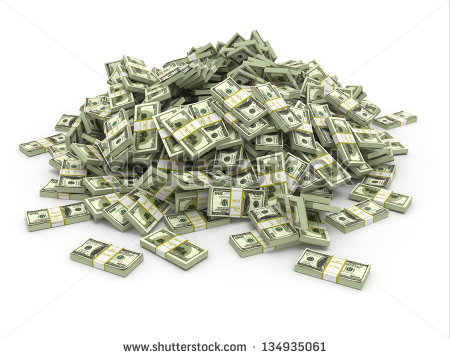 Pile Of Cash Stock Images, Royalty.