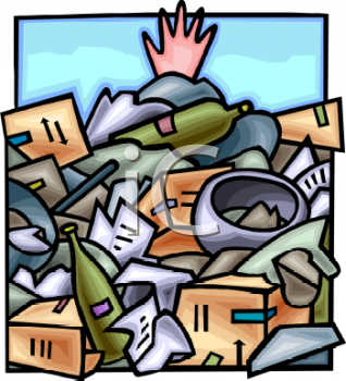 Trash Piled Up Clipart.