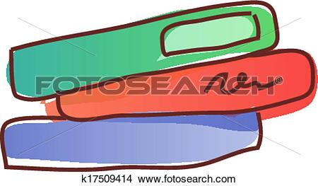 Clipart of The book are piled up k17509414.
