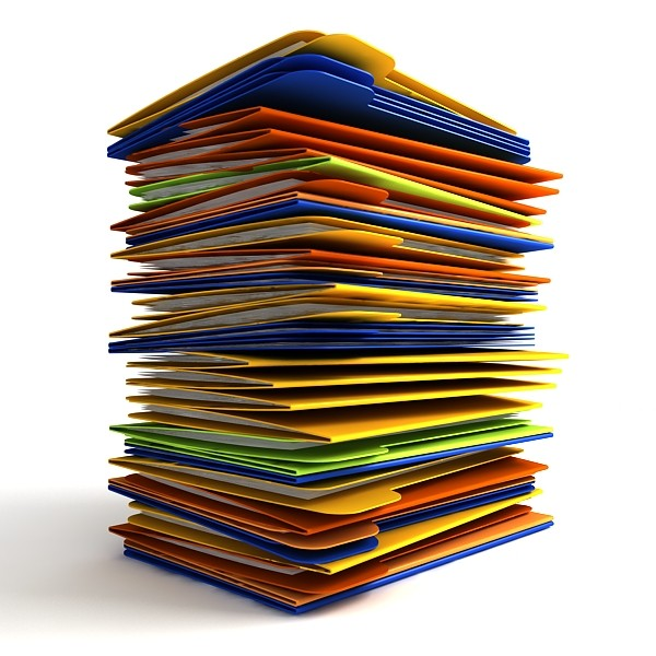 Files Or Piles Clipart.