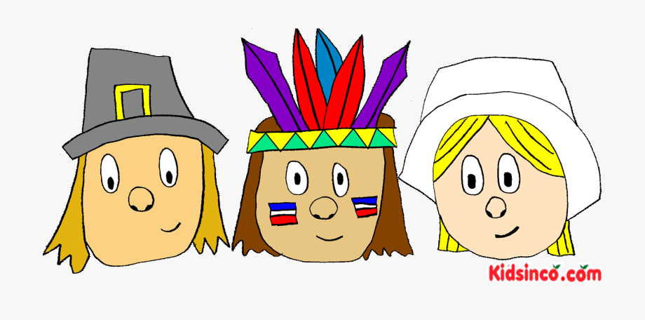 Pilgrims, Indians, Thanksgiving Clip Art.