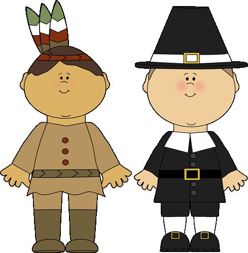 Indian Boy and Pilgrim Boy.