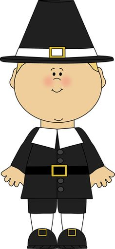 Boy Pilgrim Clipart.