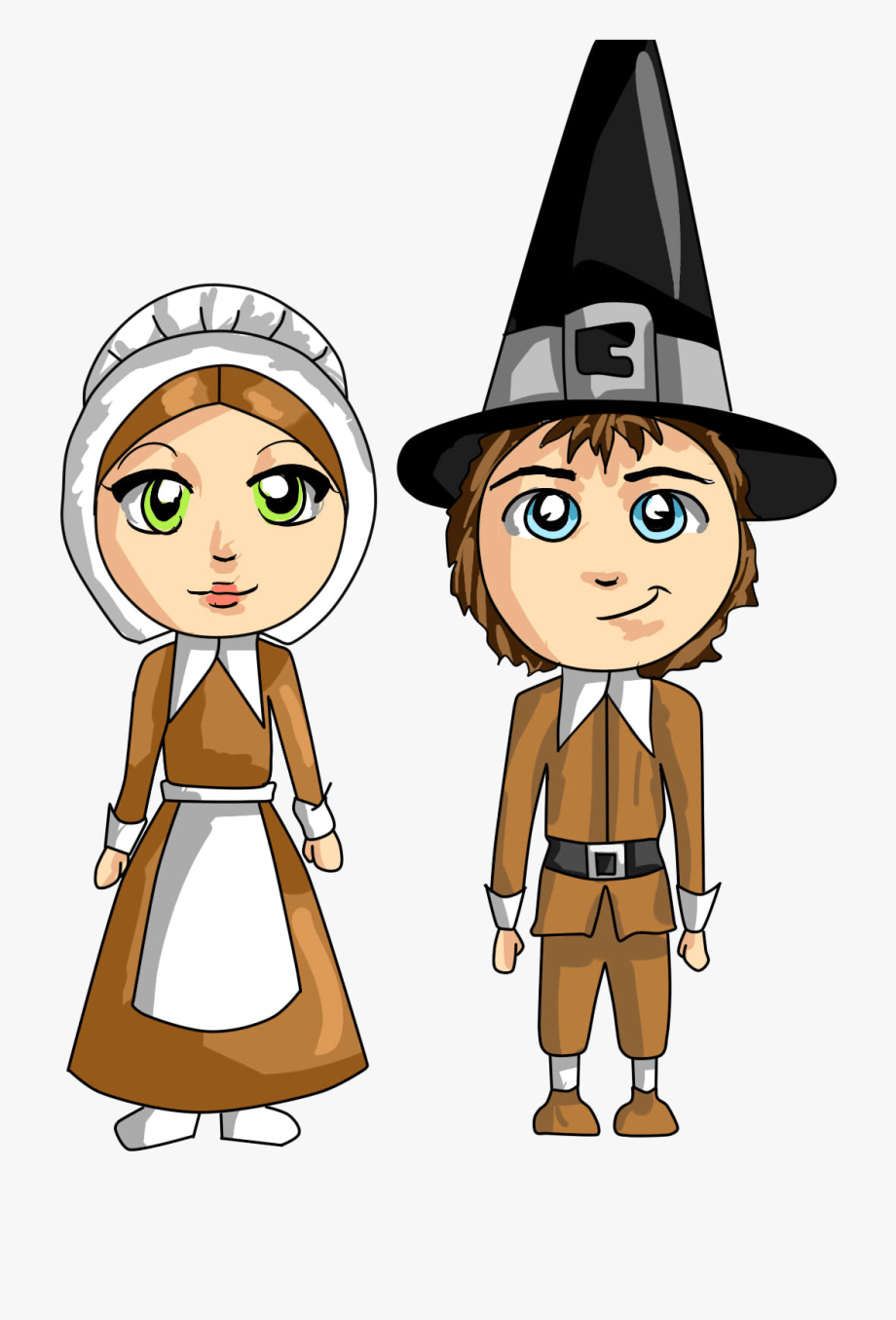 Free Pilgrims Thanksgiving Cliparts.