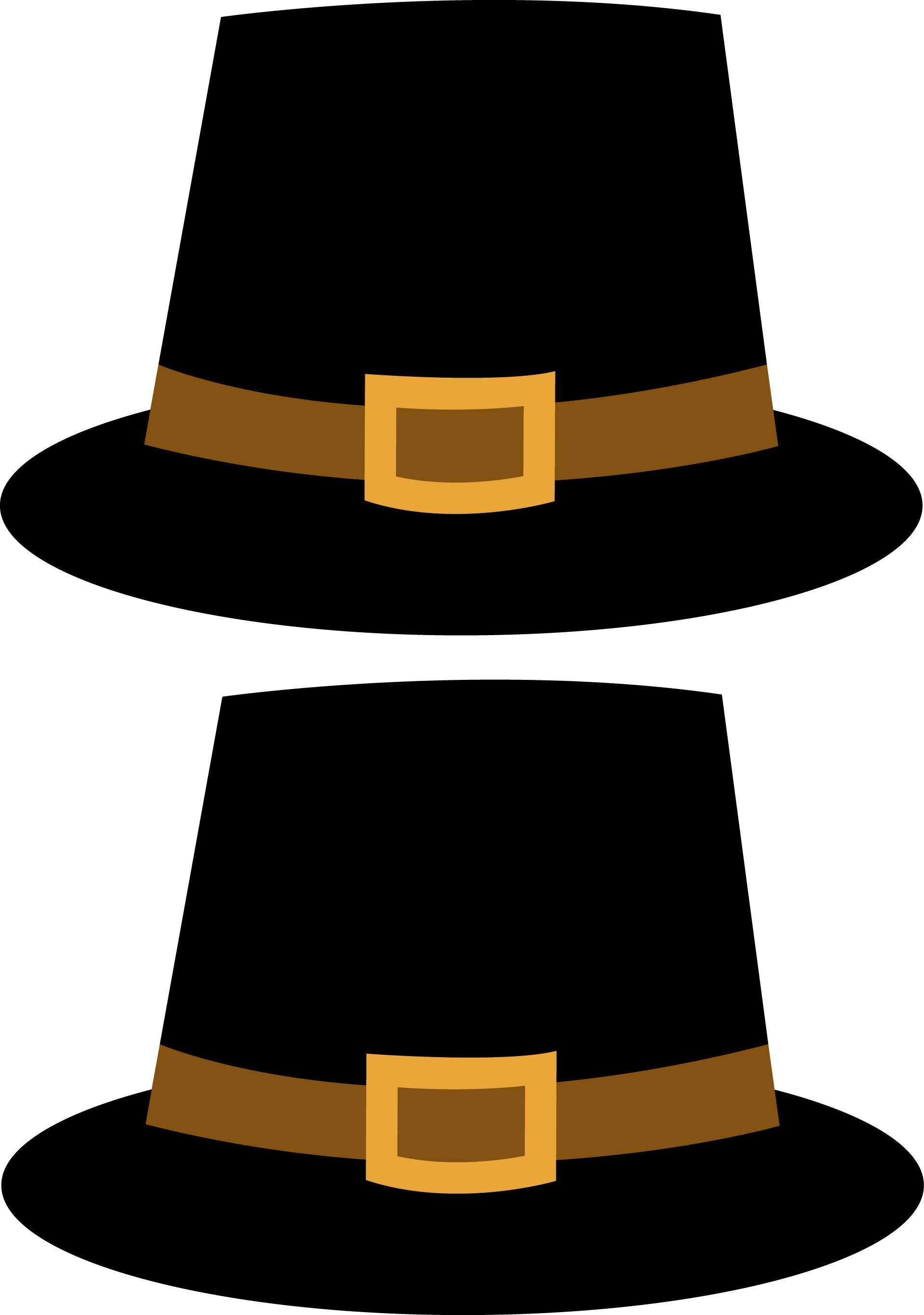 Pilgrim hat clipart.