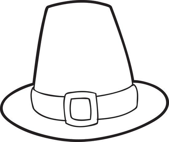 Pilgrim Hat Drawing.