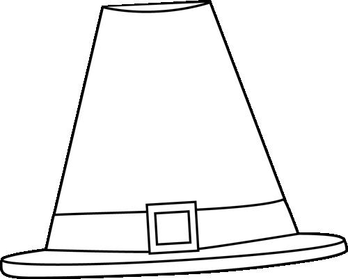 Hat black and white black and white pilgrim hat clip art.
