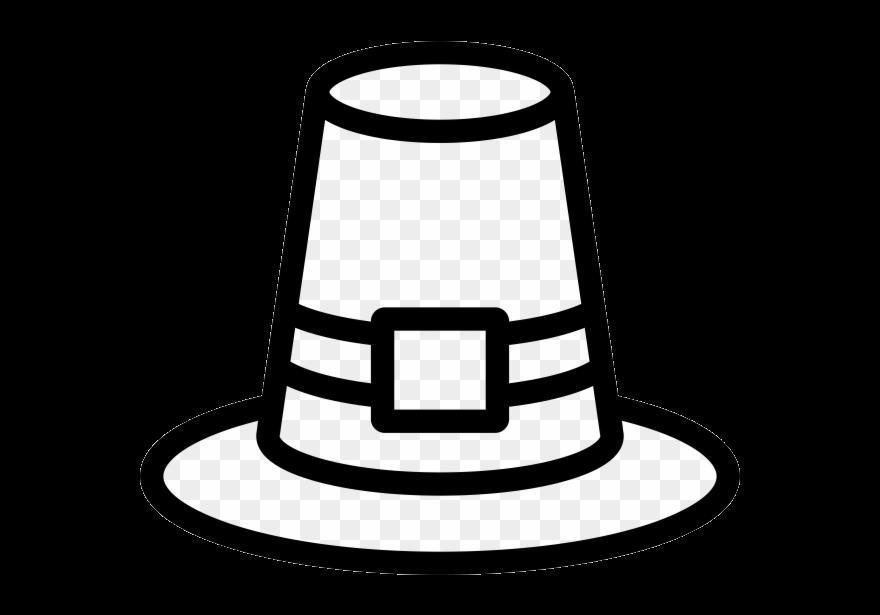 Pilgrim Hat Rubber Stamp Drawing Clipart Transparent Png.