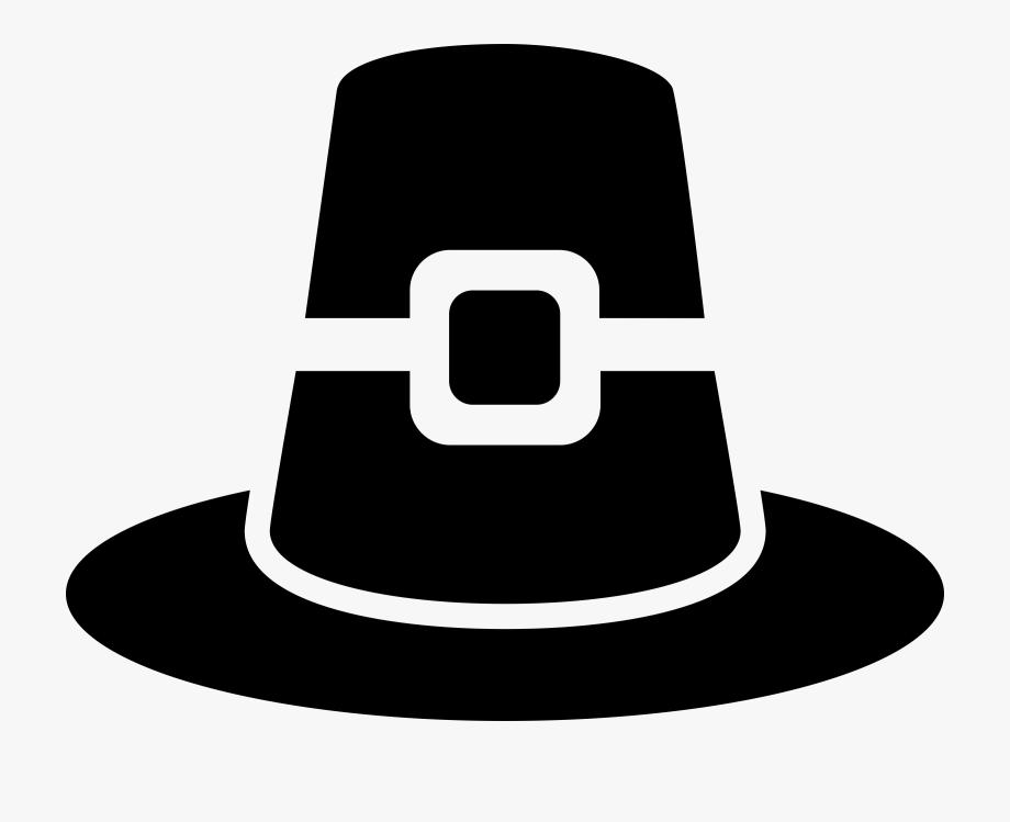 Pilgrim Hat Vector Clipart Image.