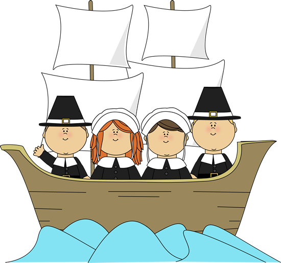 Pilgrims On The Mayflower Clipart.