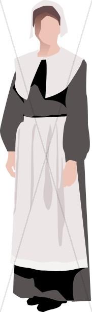 Pilgrim Woman Symbolic.
