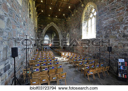 "Stock Photo of ""Chapel of the Christian Iona Abbey, Iona."