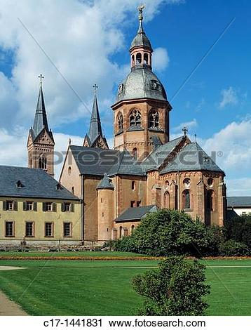 Stock Photography of Germany. Seligenstadt, Main, Rhine.