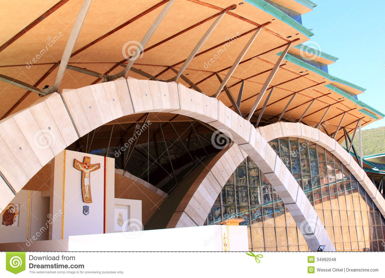 Padre Pio Pilgrimage Church, Italy Royalty Free Stock Photos.