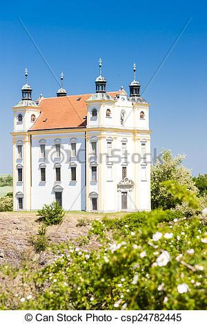 Stock Photo of pilgrimage chapel of Saint Florian, Moravsky.