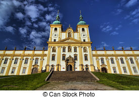 Stock Image of Pilgrimage Church of the Purification of the Virgin.