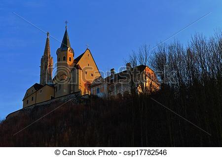 Stock Photo of Pilgrimage Church of Maria Strassengel.