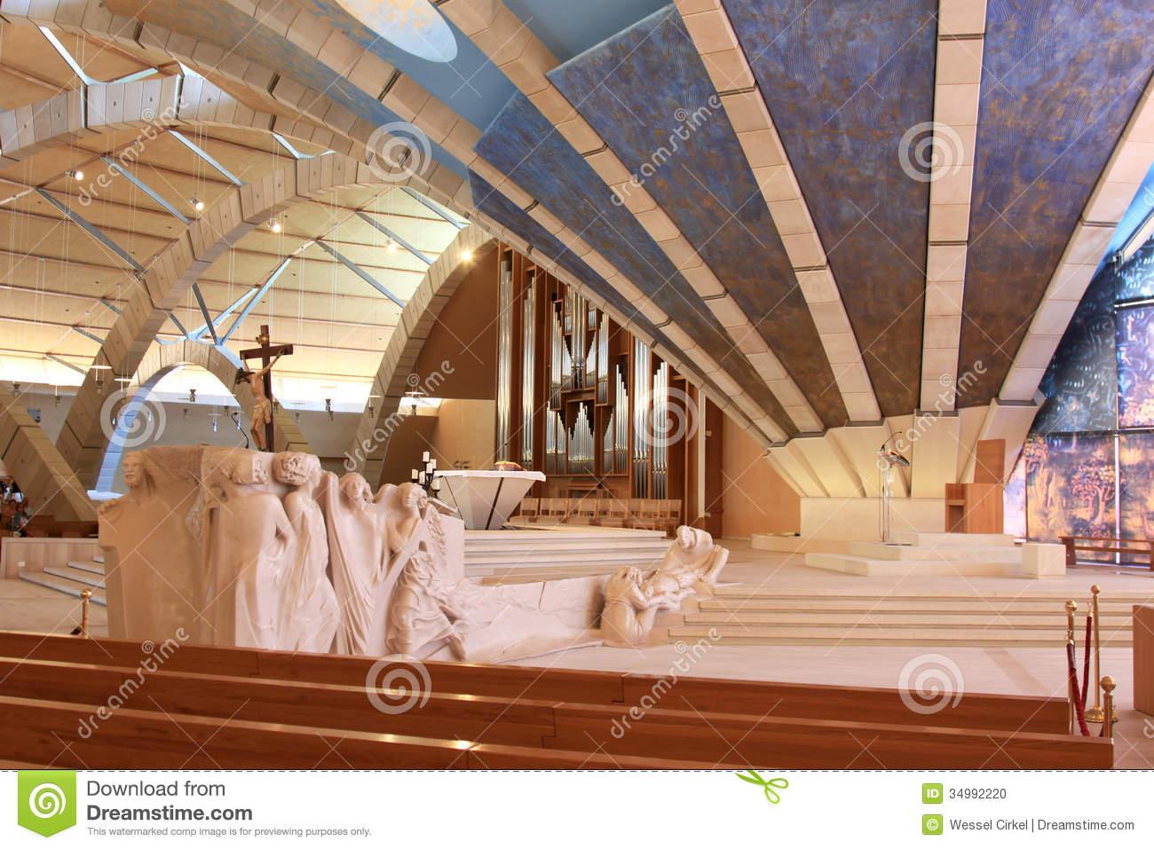 Sculptures In Padre Pio Pilgrimage Church, Italy Editorial Image.