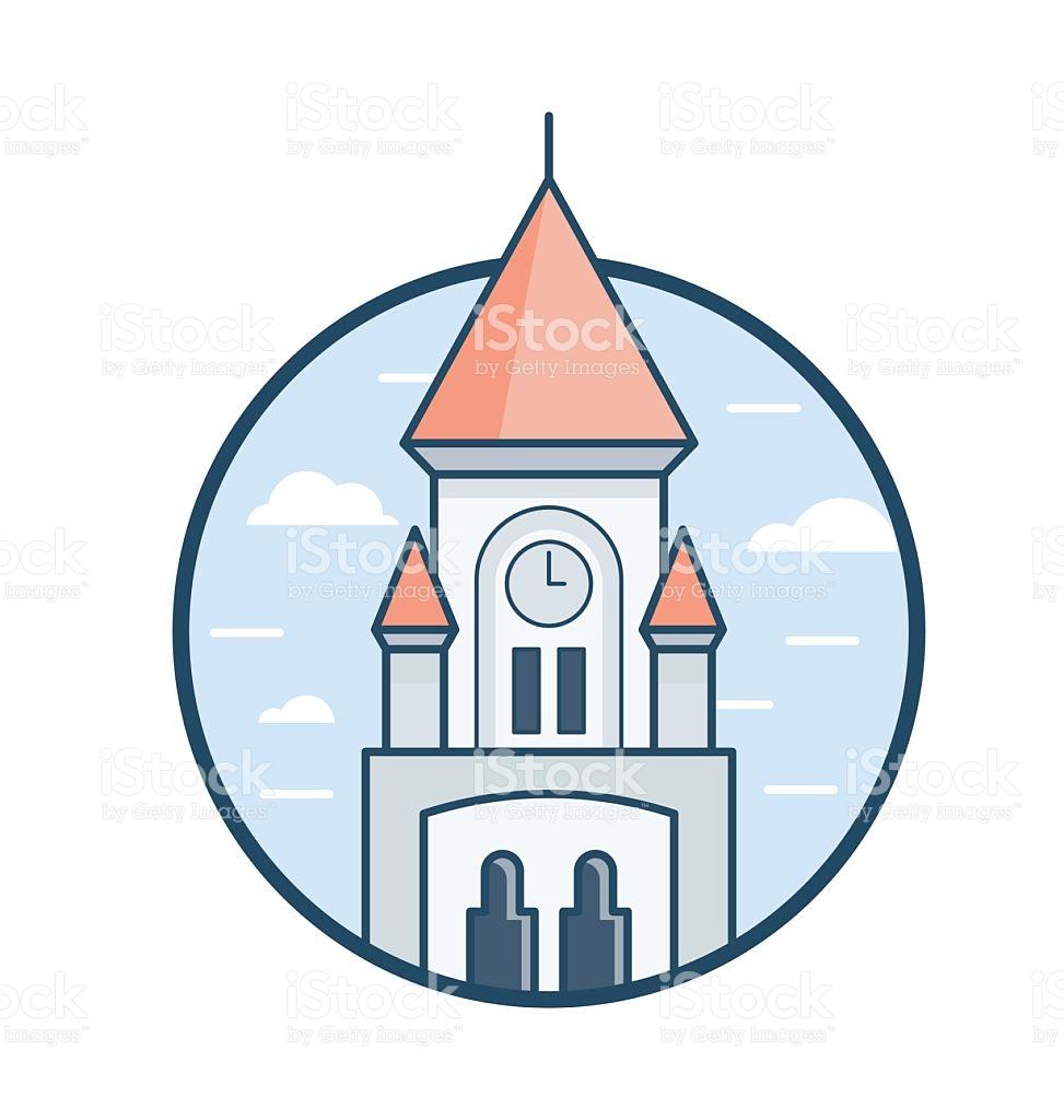 University Church St Mary The Virgin Vector Icon stock vector art.