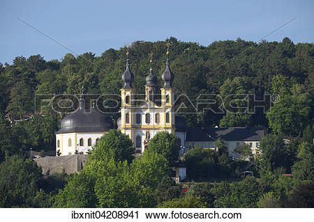 Stock Photography of The pilgrimage church of St. Mary, Wuerzburg.