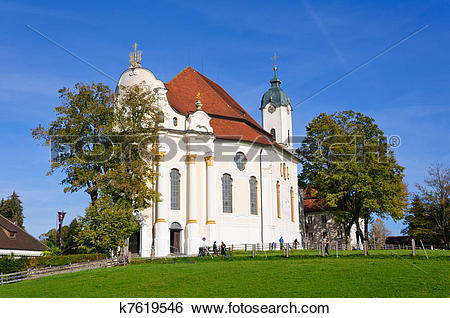 Stock Images of Pilgrimage Church of Wies k7619546.